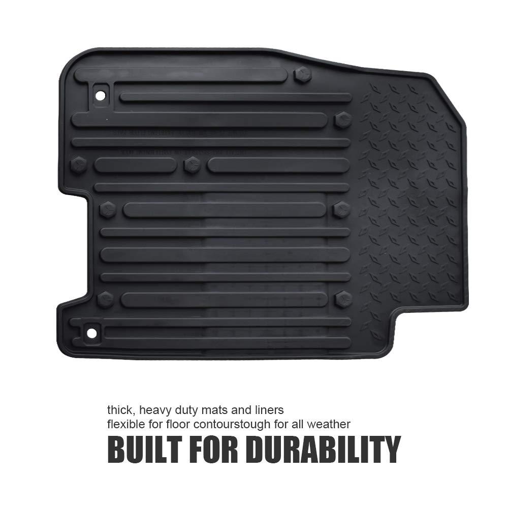 QUAKEWORLD Floor Mats Liners Compatible for 2013-2017 Dodge Ram Crew Cab Black High Wall All Season Weather Floor Mats
