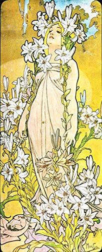 Alphonse Mucha Flowers - WholesaleSarong Lily The Flower Alphonse Mucha Art Nouveau Poster Modern Home Accent Wall Decor bar Decorations