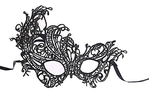 Lace Mask Ladies Sexy Party Mascara Halloween Half Face Mask (De Mascaras De Halloween)
