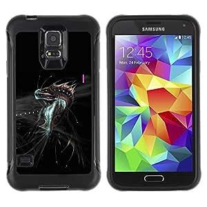 """Hypernova Defender Series TPU protection Cas Case Coque pour Samsung Galaxy S5 V [Dragón de la fantasía del monstruo""""]"""