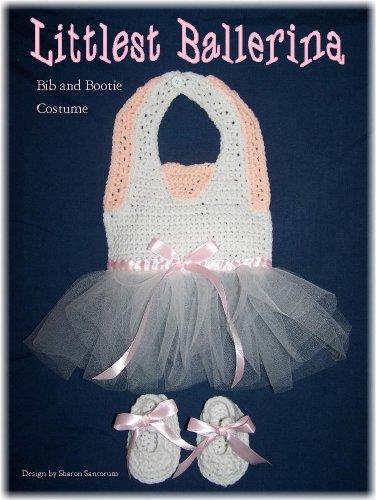 Littlest Ballerina Bib and Bootie Set Crochet ()