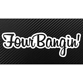 Amazoncom Four Bangin JDM Style Decal Sticker Custom Diecut - Custom die cut vinyl stickers cheap