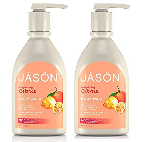 Jason 30 oz Revitalizing Citrus Pure Natural Body Wash Pack of 2