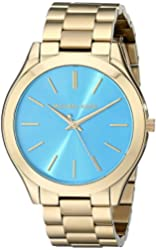 Michael Kors MK3265 Women's Slim Runway Gold-Tone Stainless Steel Bracelet Watch