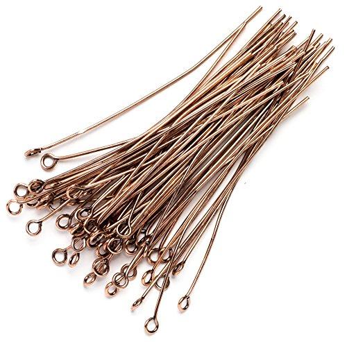 - 60pc Metal 2in Eye Pin- Copper