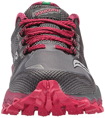 Saucony Women's Running Shoe Berry Peregrine Grey Trail 7 F14wSnFq