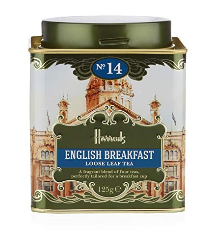 Harrods London. No. 14, English Breakfast 125g Loose Tea 4.4oz GIFT TIN CADDY - USA Stock - Loose Tea Caddy