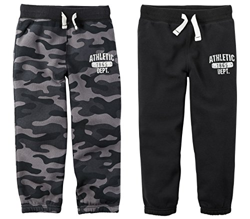 Carters Toddler Boys 2 Pack Warm Fleece Active Pants (5t) ()