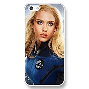UniqueBox Customized Marvel Series Case for iPhone 5C, Marvel Comic Hero Invisible Woman iPhone 5c Case, Only Fit for Apple iPhone 5C (White Hard Case) Kimberly Kurzendoerfer