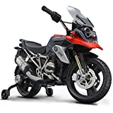 ROLLPLAY Premium Electric Motorcycle, For Children 3 Years and Older, Up to 35 kg, 12-Volt Battery, Up to 4 km/h, BMW 1200 Motorcycle, Red
