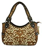 Montana West Ladies Western Purse Concealed Handgun Collection Embroidery Brown, Bags Central