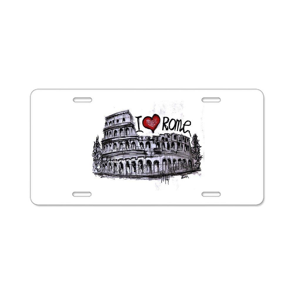 CafePress I Love –  Roma –  Placa de Licencia