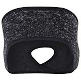 MIFULGOO Women's Ponytail Headband Ear Warmer Head Wrap Yoga Hair Band Running Sweatband
