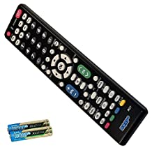 HQRP Remote Control for Sharp AQUOS LC-32PX5M LC-32SH20U LC-32SB24U LC-32LS510UT LC-32SB27UT LC-32SB28UT LCD LED HD TV Smart 1080p 3D Ultra 4K + HQRP Coaster