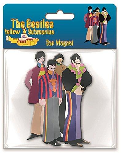 Beatles Cartoon Band large shaped rubber fridge magnet (ro) Beatles Yellow Submarine Magnet