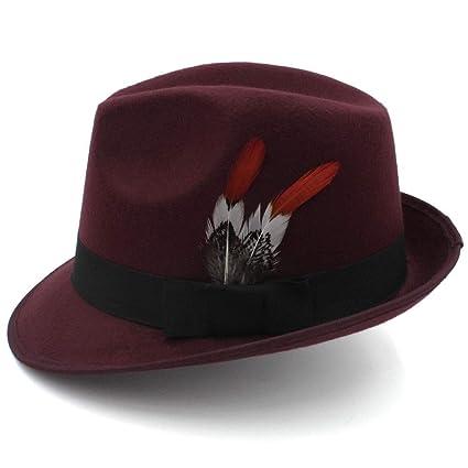Sombreros de moda gorras, Hombres Mujeres Sombrero de jazz Sombrero de lana de caballero Inglaterra Gorra ...