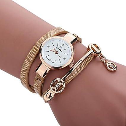-Reloj para mujer de Sonnena, correa de metal y reloj analógico con pulsera con