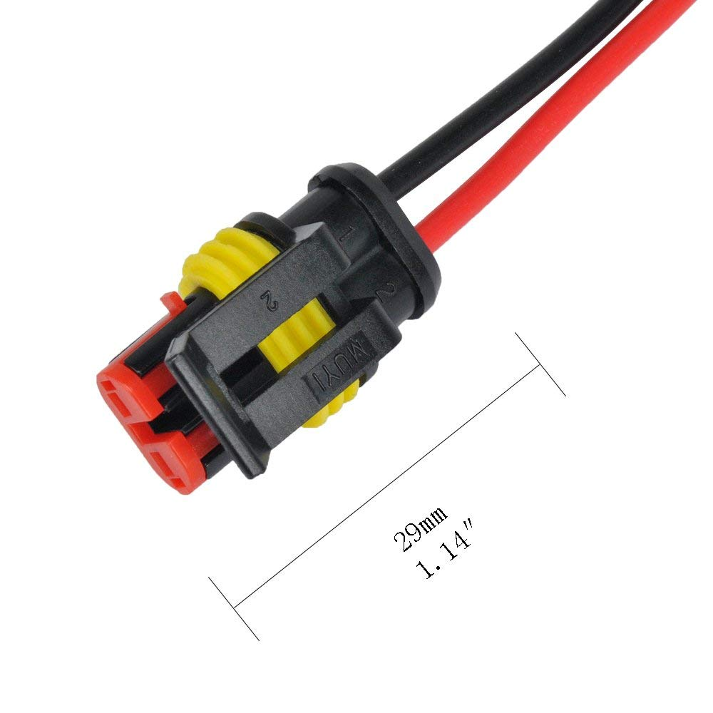 Wire Auto Connectors Terminal for Cars Motorcycles Lorries Caravans Boats Quads Scooters KINYOOO 2.8mm Pitch Male Female Plug Housing Connector 3way 2P, 6way 2P, 9way 2P