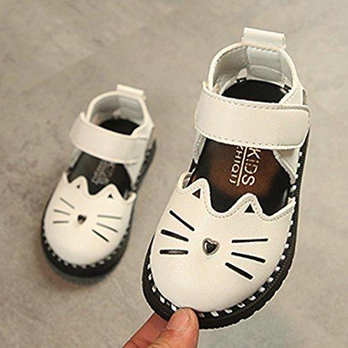 Voberry® Chaussures de Bébé Mary Jane Fille Chat de Dessin