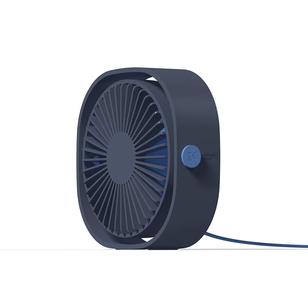 Cugap Mini USB Desk Fan 3 Speeds 360/° Up and Down Rotatable Home Office Desktop Decor Portable USB Fan