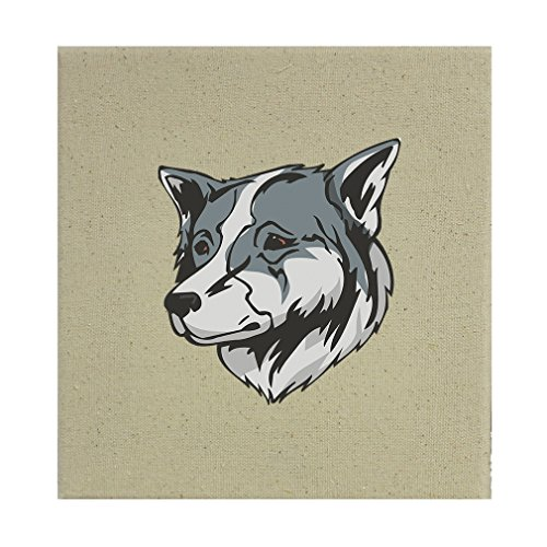 Style in Print Stretched Natural Canvas Thai Bangkaew Dog Head By 8''X8'' by Style in Print