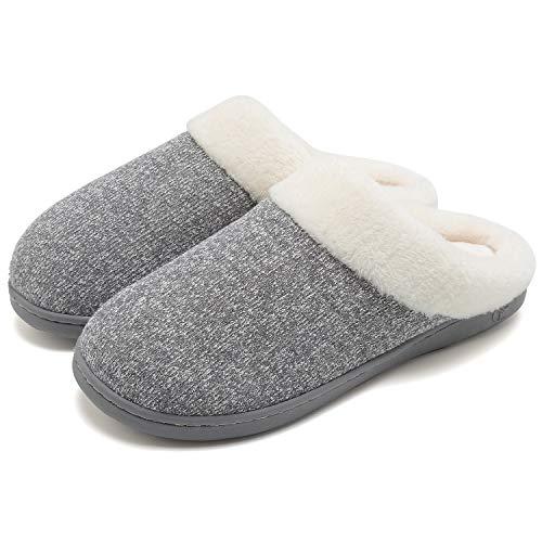 Invernali Pantofole Bagno Letto Foam Da Grigio Morbide Antiscivolo Camera Memory Calde Welltree 74zgCdC