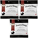Gimbal's Scottie Dogs All Natural Black Licorice - 3 Pack - Real Licorice Root and Pure Anise - 8.25 oz Total