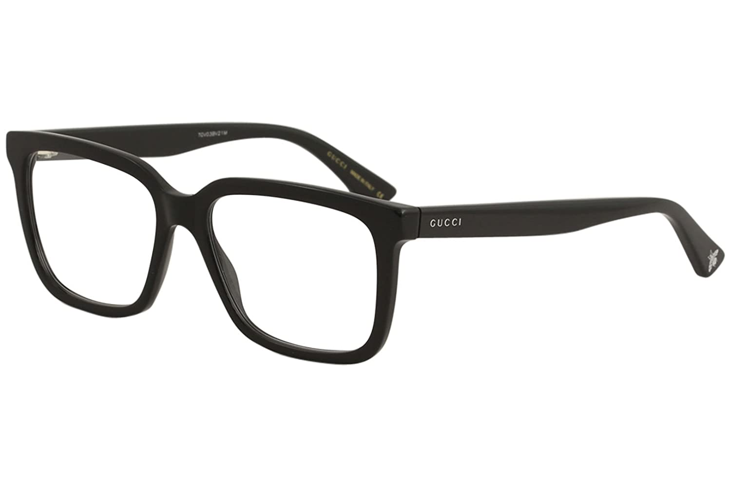 Amazon.com: Gucci GG 0160 O- 005 BLACK Eyeglasses: Clothing