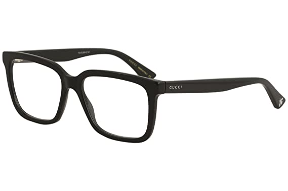 de314da9abb Amazon.com  Gucci GG 0160 O- 005 BLACK Eyeglasses  Clothing