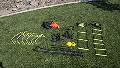 Unlimited Potential Speed and Agility Training Kit - w/Bag Agile Sports Development Equipment – Includes Ladders, Hurdles, Cones – Best for High Intensity Sports Drills