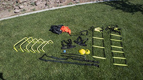 Unlimited Potential Speed and Agility Training Kit – w/Bag Agile Sports Development Equipment – Includes Ladders, Hurdles, Cones – Best for High Intensity Sports Drills