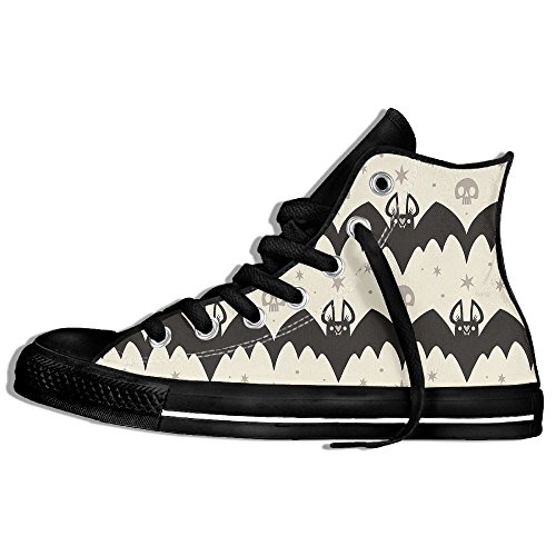 FAIRY Classic Lace Up High Top Canvas Shoes Bat Halloween Party Sneaker For Men Women