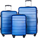 Merax MT Imagine Luggage Set 3 Piece Spinner Suitcase 20 24 28inch (Rose)