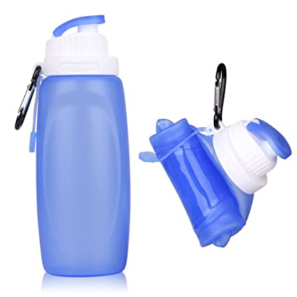 Amazon.com: Enchan - Botella de agua plegable de silicona ...