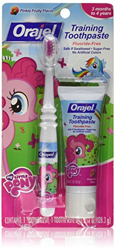 - Orajel My Little Pony Toddler Training Toothpaste, Pinkie Fruity, 1 Ounce