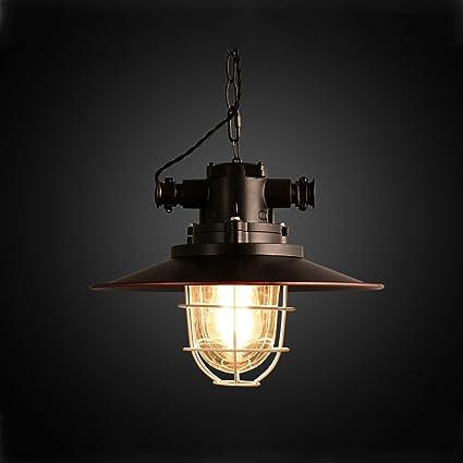 Lámparas Colgantes Pequeñas jaulas Hierro Lámpara Retro ...