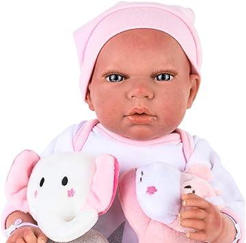 Amazon.es: Muñecas Arias- Bebe Reborn: Eva – Muñeca Realista perfumada con múltiples Accesorios: Manta, Chupete y 2 Peluches – 40 cm, Color Rosa (1): Juguetes y juegos