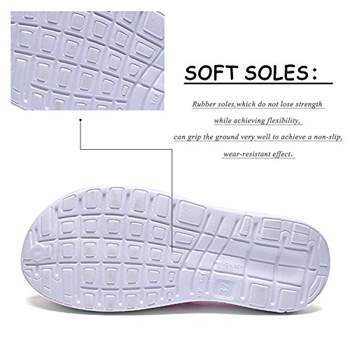 Anti Drying BARKOR Mesh Slippers Lightweight Mens Breathable Summer Garden Footwear Quick Shoes Slip Clog pink1 Shoes Womens Mesh 6qw6Cp7r