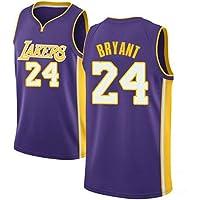 HEBZ De los Hombres Baloncesto Jersey Kobe Bryant # 24 Los Lakers de Los Angeles Swingman Jersey,Ropa de Deporte,Unisexo Sin Mangas Malla
