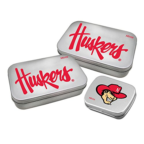 Worthy Promotional NCAA Nebraska Cornhuskers Decorative Mint Tin 3-Pack with Sugar-Free Mini Peppermint Candies