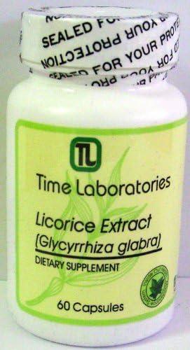 Licorice Glycyrrhiza glabra Extract Capsules 60