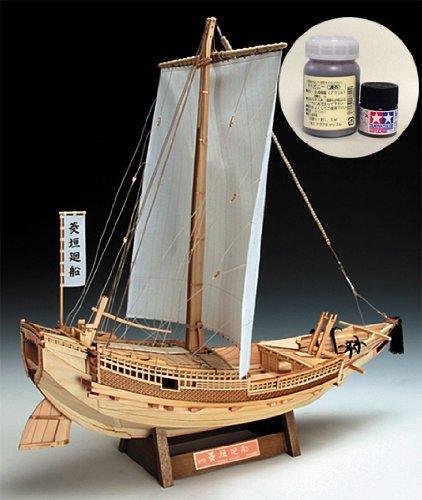 ウッディジョー/木製帆船模型 1/72 菱垣廻船(ひがきかいせん)+塗料セット B00BH8KT4G