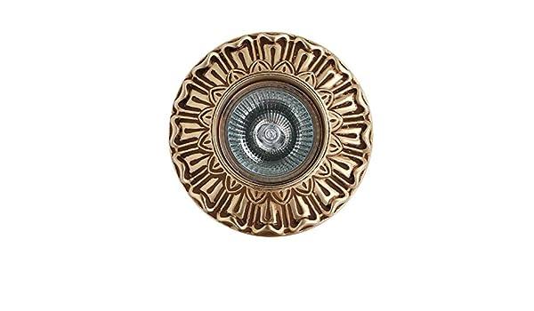 Foco empotrable clásico de metal tratado de argolla decoro oro ...