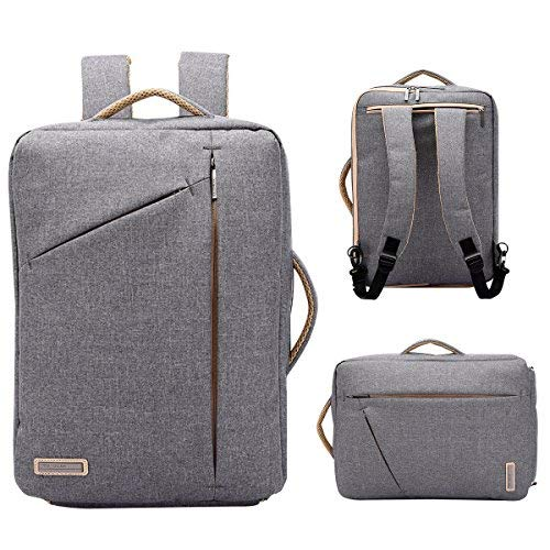 TUGUAN slim laptop backpack, small canvas business briefcase fits 15.6 inch convertible anti theft college school bookbag for men&women。 ()