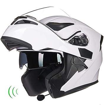 Moto Cascos Moto Cascos Ventilación A Prueba De Lluvia Con Micrófono Bluetooth Casco De Motocicleta De