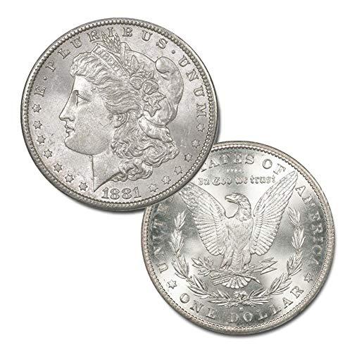 (1881 S Morgan Silver Dollar $1 Brilliant Uncirculated)