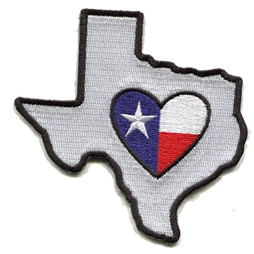 Heart in Texas Patch - Embroidered Thread Patch for TX Locals, Instant Application with a Sticky-Back, No Ironing Required. Apply to Clothing, Coolers, Water Bottles, Glass, Wood Dallas Cowboy Local