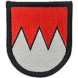 Café Viereck Franken Bayern Bundesland Gesticktes Patch mit Klett Wappen