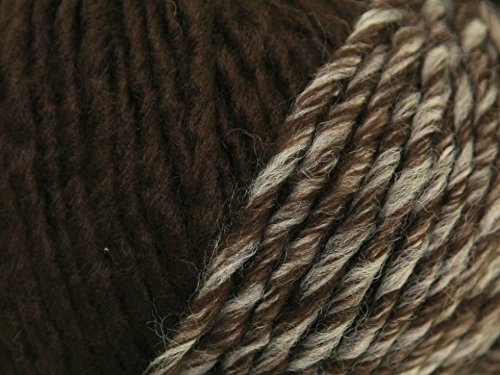 - Katia Basic Cap Yarn 1 Ball Makes One Cap or Cowl Virgin Wool Blend Brown Cream 87 Yards