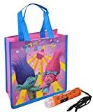 "Dreamworks ""Trolls"" Inspired Girls Resuable Medium Sized Halloween Trick or Treat Loot Bag!! Plus Bonus ""Safety First"" Mini Halloween Flashlight Necklace!"